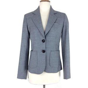 J. Crew Women's Gray Blazer Long Sleeve Size 0
